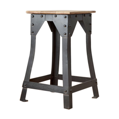 Industrie-stool-timber-seat