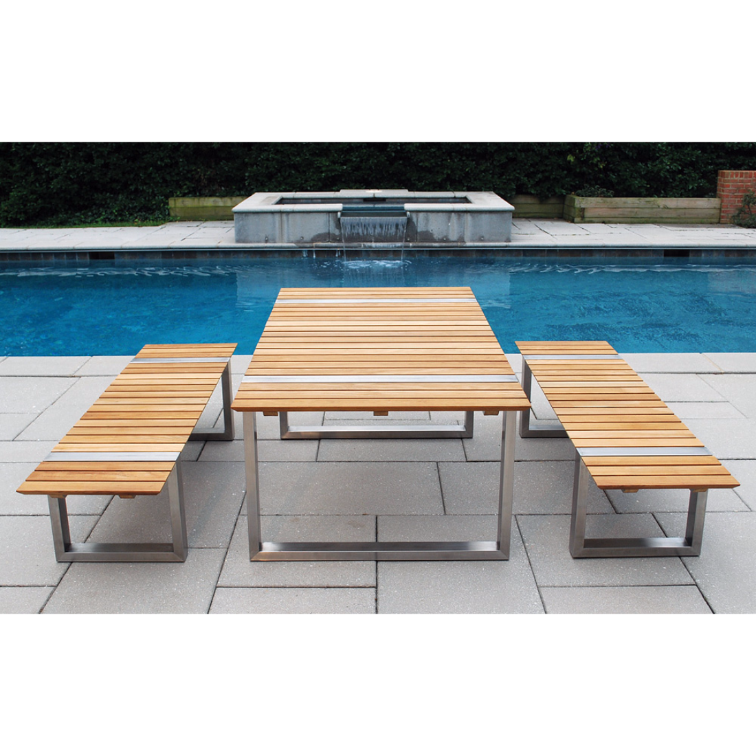 Bailey Communal Table - Outdoor communal table